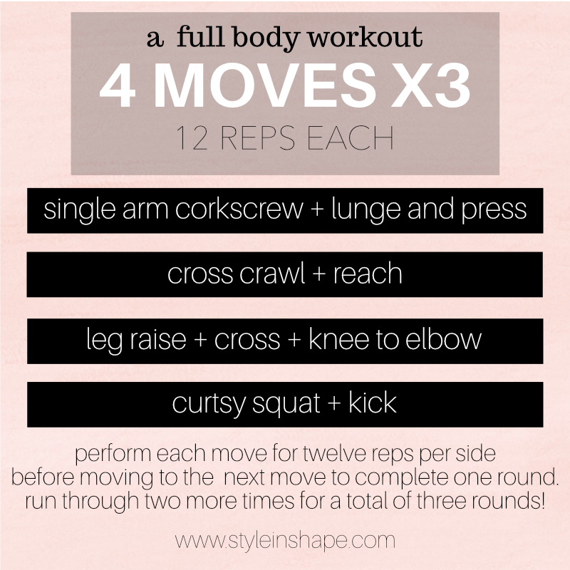 4 moves to work you head to toe