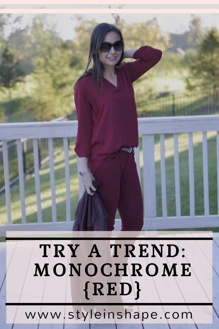 Try A Trend: Monochrome Red | Style In Shape
