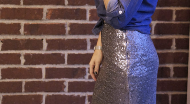 Sequined Skirt Two Ways   Style In Shape