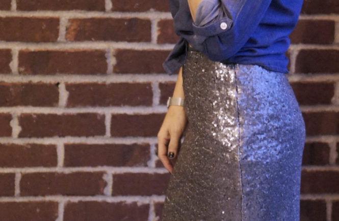 Sequined Skirt Two Ways | Style In Shape