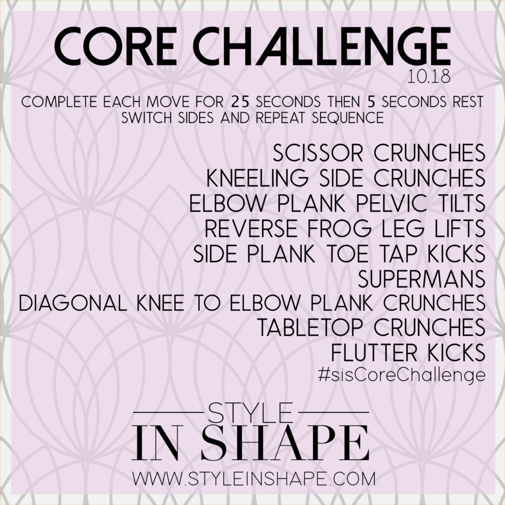 Style in Shape | October Core Challenge