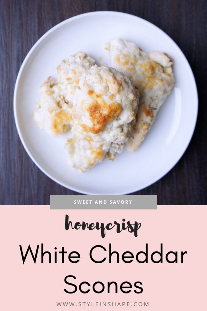 honeycrisp white cheddar cheese scones